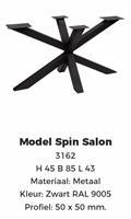SPIN-poot zwart poedercoating Salon