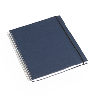 Notatbok 170x200 Iris Blå Ulinjert