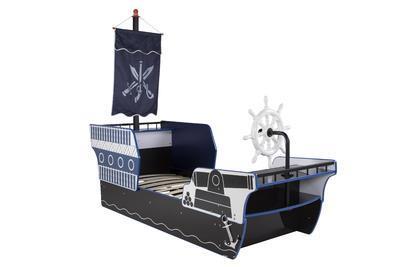 Pirate Ship säng blå