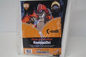 RemppaOvi, Palosuojattu FR DIN 4102-B1,Vetoketju Din 75200,C-malli EAN 6430017730845