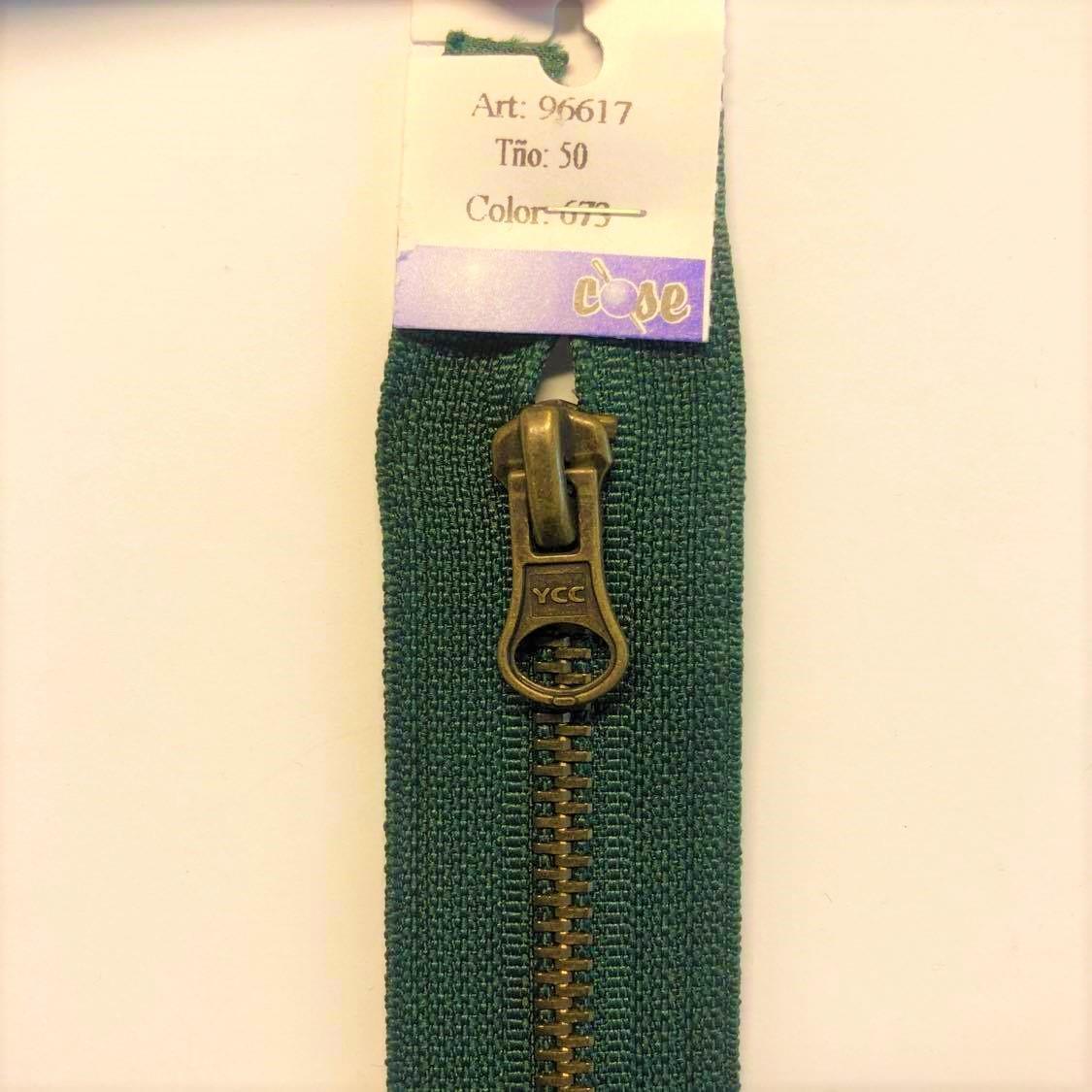 Delbar glidlås 50 cm grønn 96617