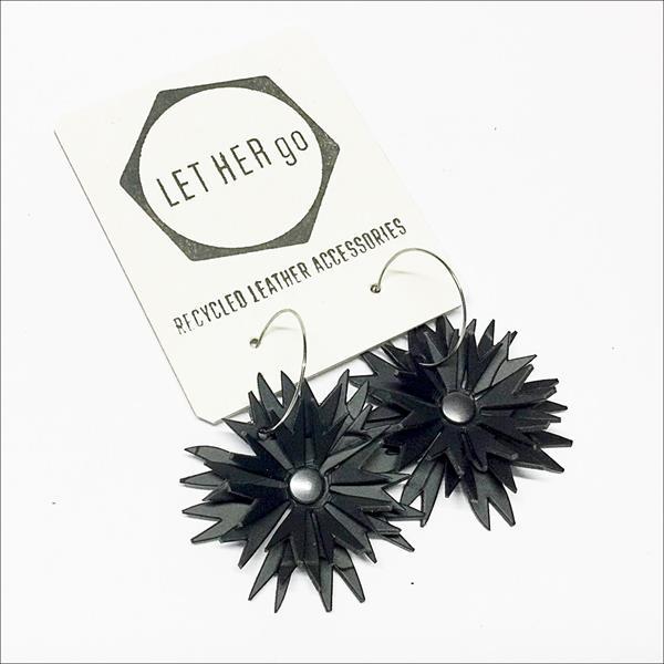 ASTRILLI- korvakorut, musta/harmaa