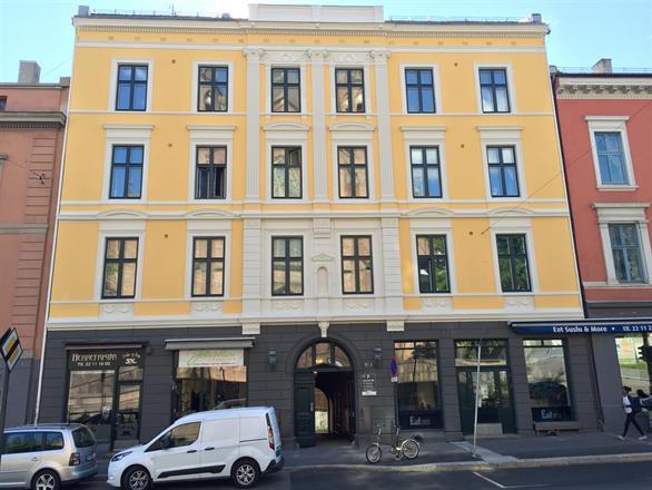 Fasade i Sentrum av Oslo - mai/Juni 2015