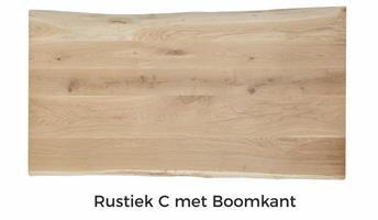 Tafelblad Eiken boomkant 70x70x4cm