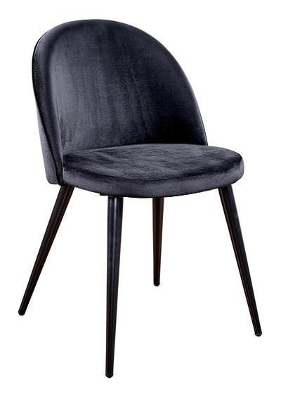 Velvet matstol svart/svart