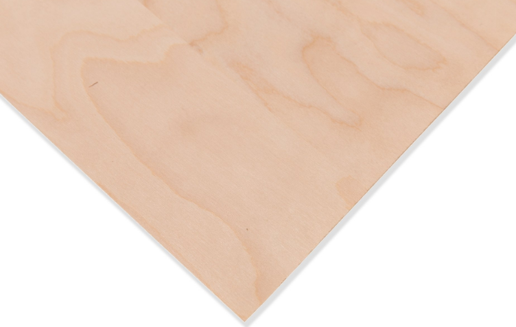 Finér, med papirbakside, bjørk - A4