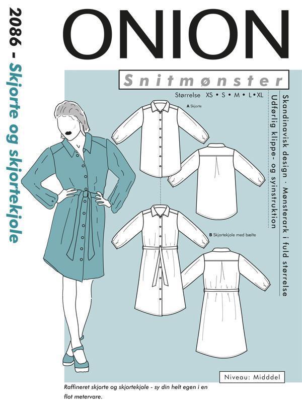 Onion dk: Skjorte og skjortekjole 2086
