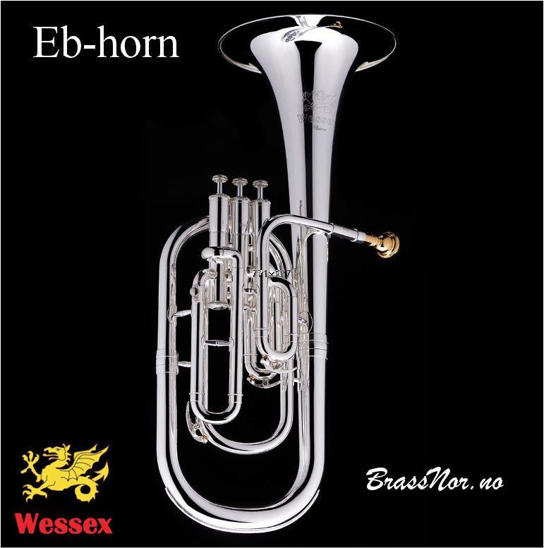 Wessex Eb horn forsølvet