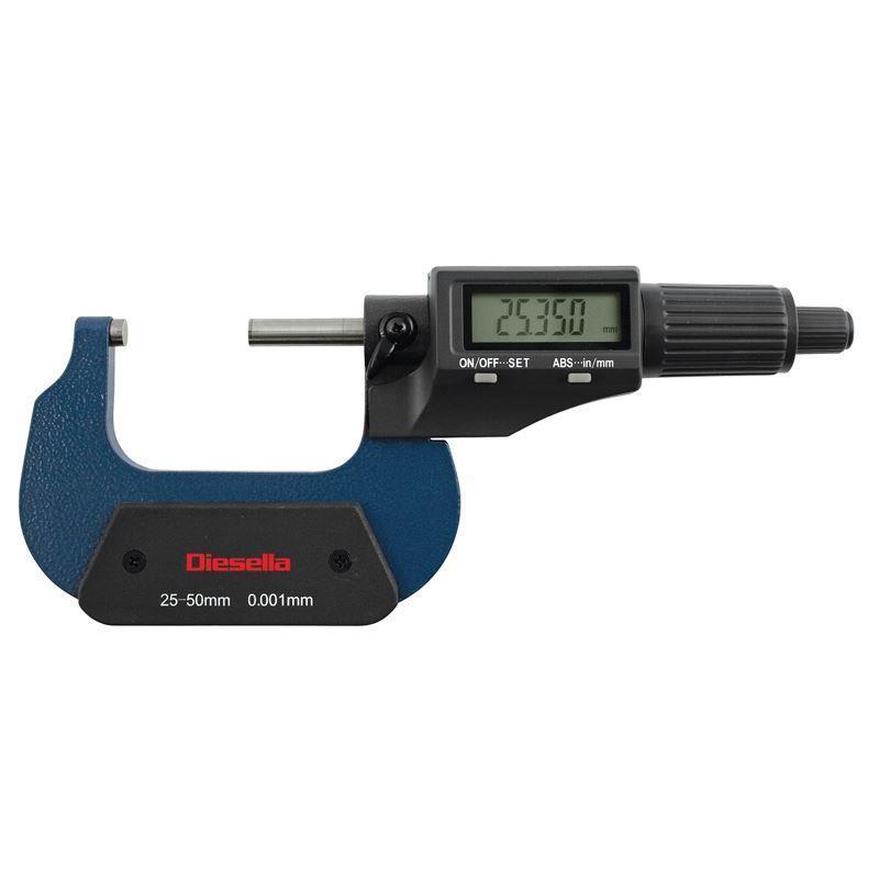 DIESELLA DIGITAL MICROMETER 0-25mm
