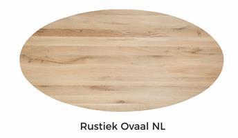 Tafelblad Eiken Ovaal met facet 140x90x4cm