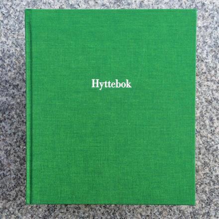 Ferdig preget hyttebok kr 325:-