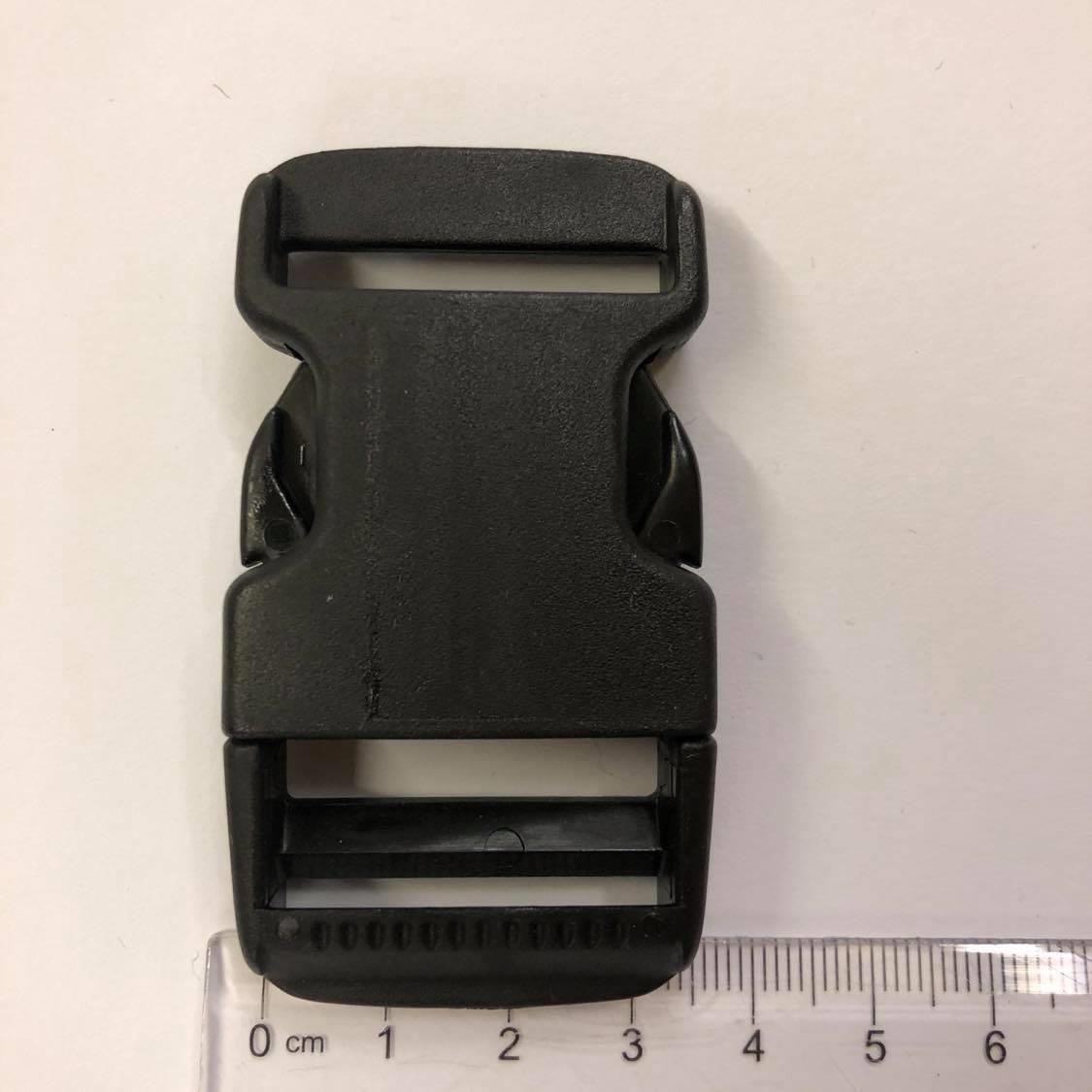Lukkespenne, plast, sort, 3,5cm