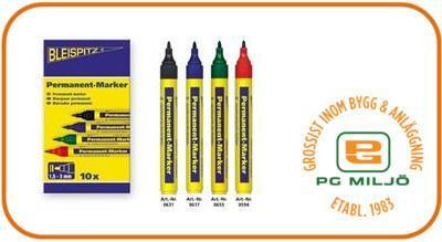 Permanent Marker 1,5-3mm Svart