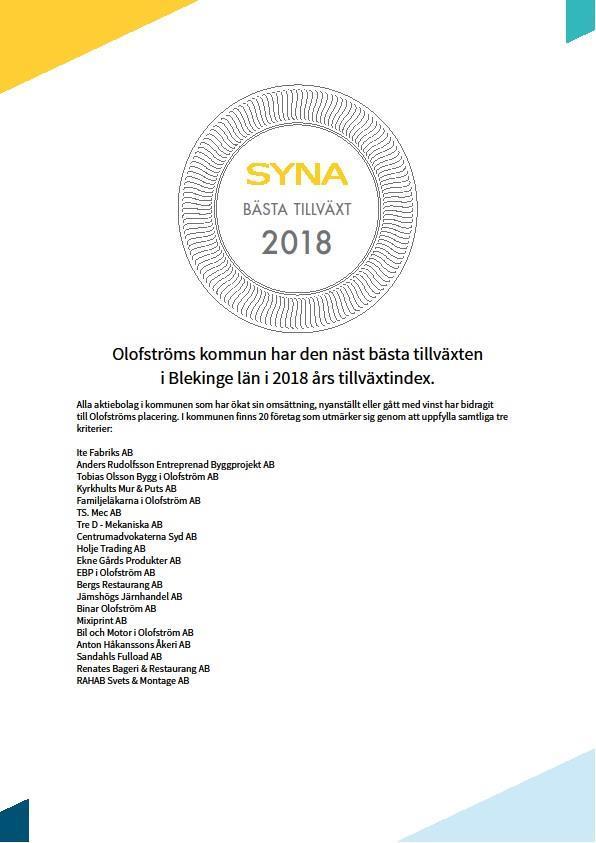 En hedrande andraplats i Bästa tillväxt 2018!