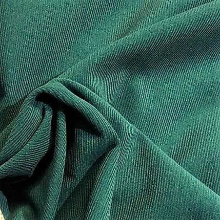 Kordfløyel, smal strp. Havgrønn