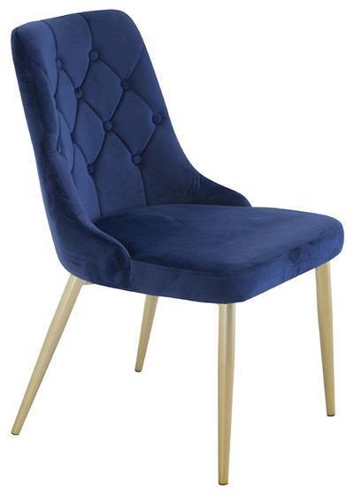 Velvet Lyx matstol blå