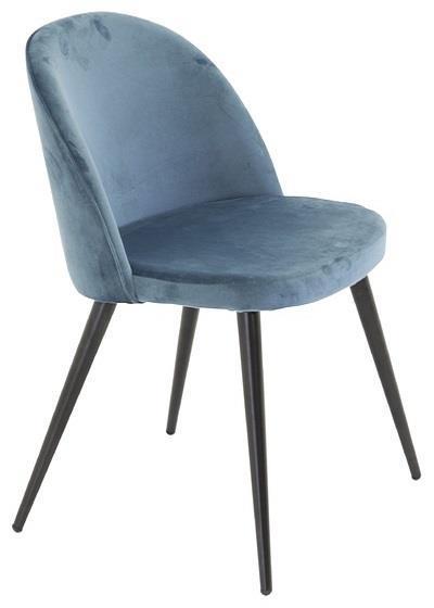 Velvet matstol blå/svart