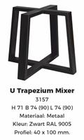Trapezium Mixer zwart poedercoating 40x100