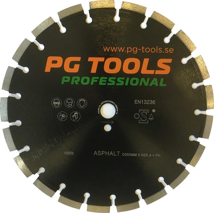 Kapskiva PGT 350mm asfalt