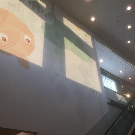 Ferdig motiv på deler av veggen