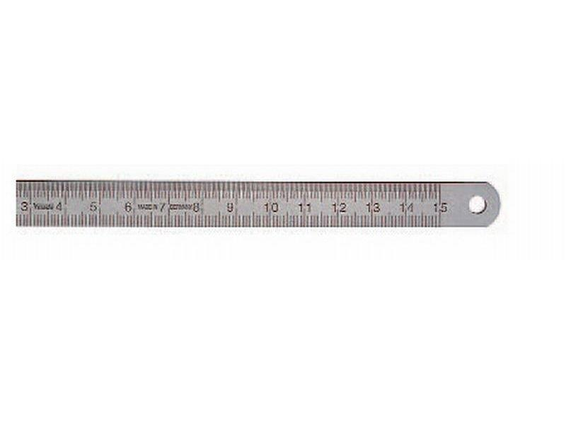 Linjal stål 0,5 x 13 x 300 mm