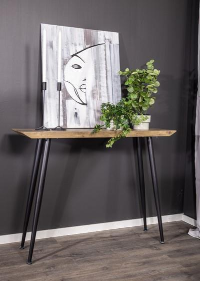 Edge avlastningsbord teak-look/svart