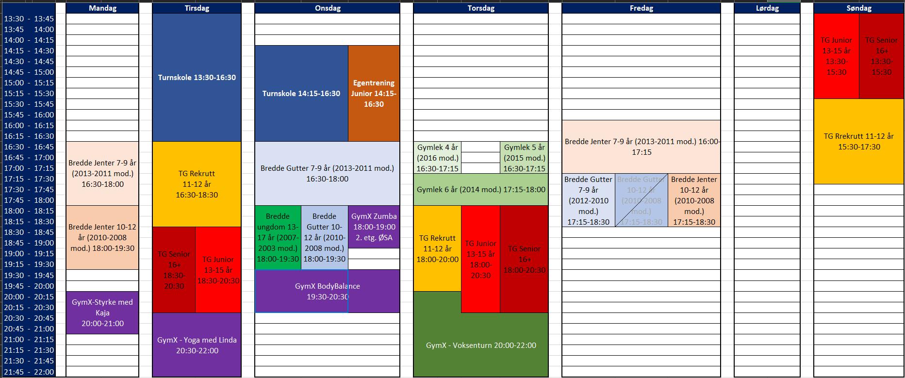 Timeplan 2020