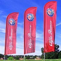Beachflag 560cm - med flagg uten fot