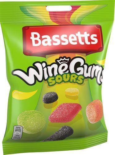 BASSETTS SOUR WINEGUMS 190G