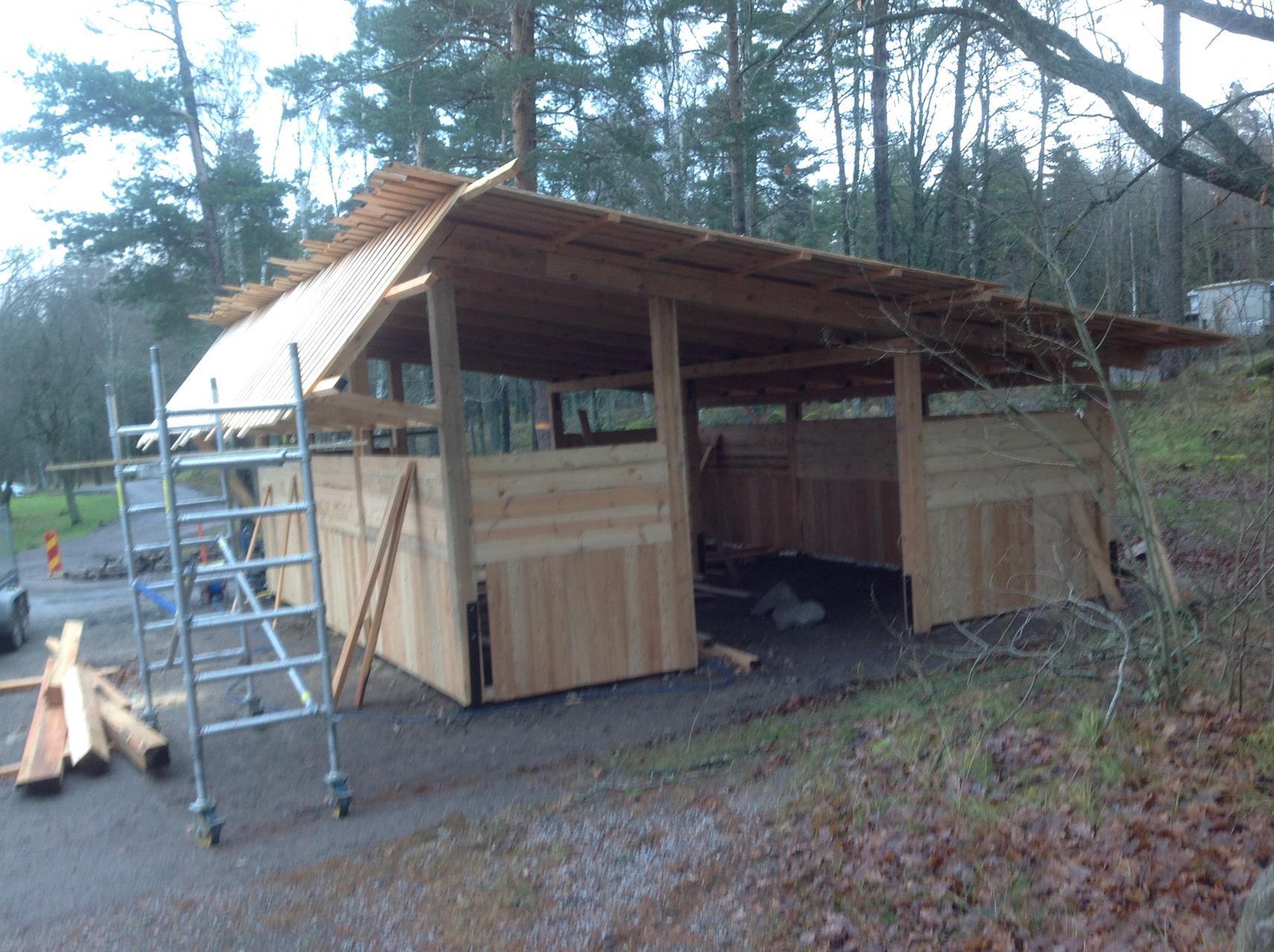 Uteklassrum under byggnad