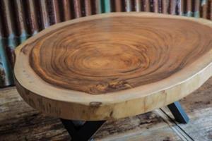 Boomschijf Suar hout 120x8/10cm