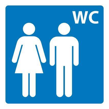 Plastskilt Toalett