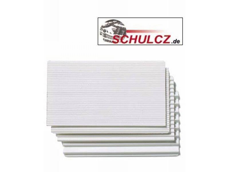 Trappeplate hvit 34 gr. 1:100  54 x 100 mm