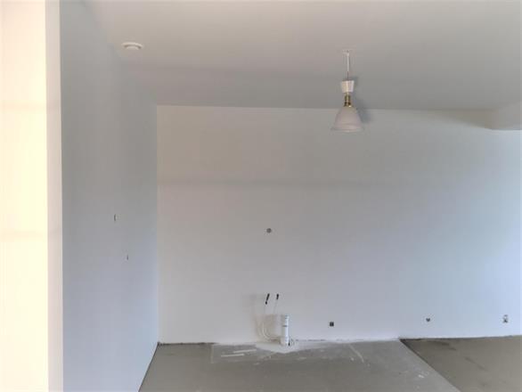 Samme tak som tidligere, ferdig isolert og malt med lys takmaling
