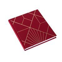 Notatbok vev Art Deco Iris Rød