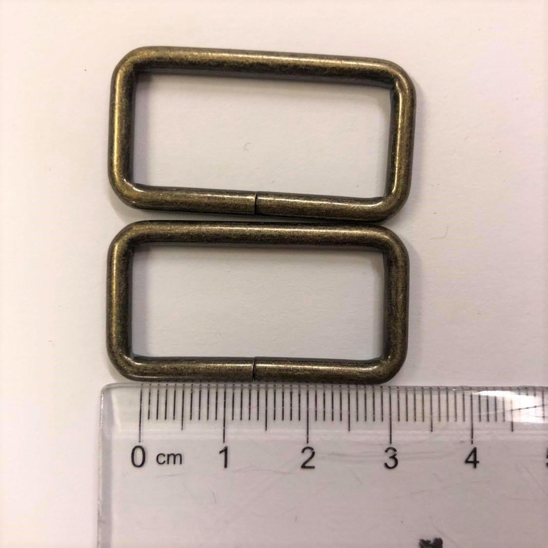 2x veskespenner oxidert gull 3cm