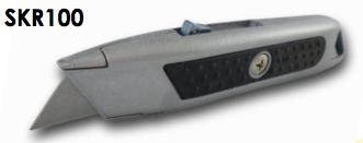 Mattkniv med fjäderbelastat bladd 20 mm