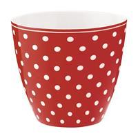Lattekopp Spot red