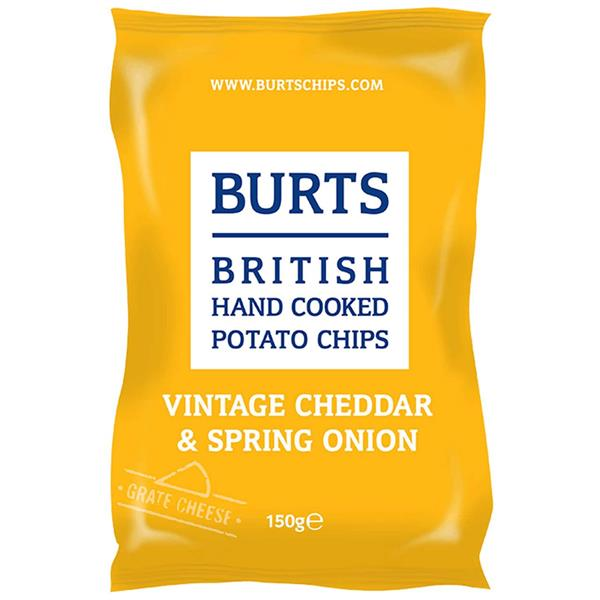 Burts potato chips mature Cheedar spring onion 150g
