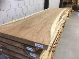 Boomstamtafel Suar hout 300x50x6cm