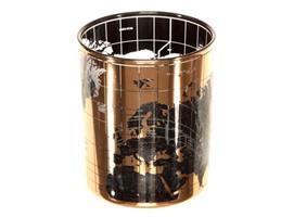 Lysglass verdenskart gull/grå 10x12,5cm