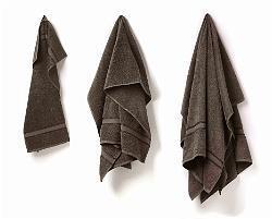 Gästhandduk grå 30 x 50 cm