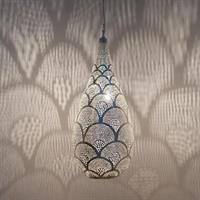 Elegance Fan Pendel - Large Silver