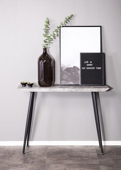 Edge avlastningsbord betong-look/svart