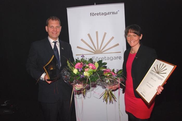 Årets Företagare i Olofström blev Ulf och Malin Åman, Solect Power
