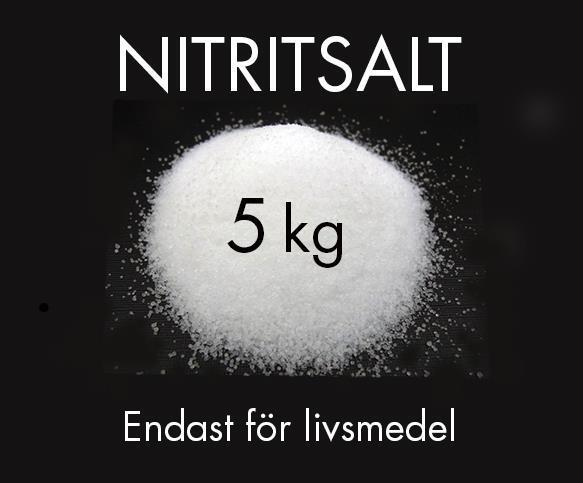 Nitritsalt 0,6% Nitrit 99,4% NaCl 5kg Välj mängd