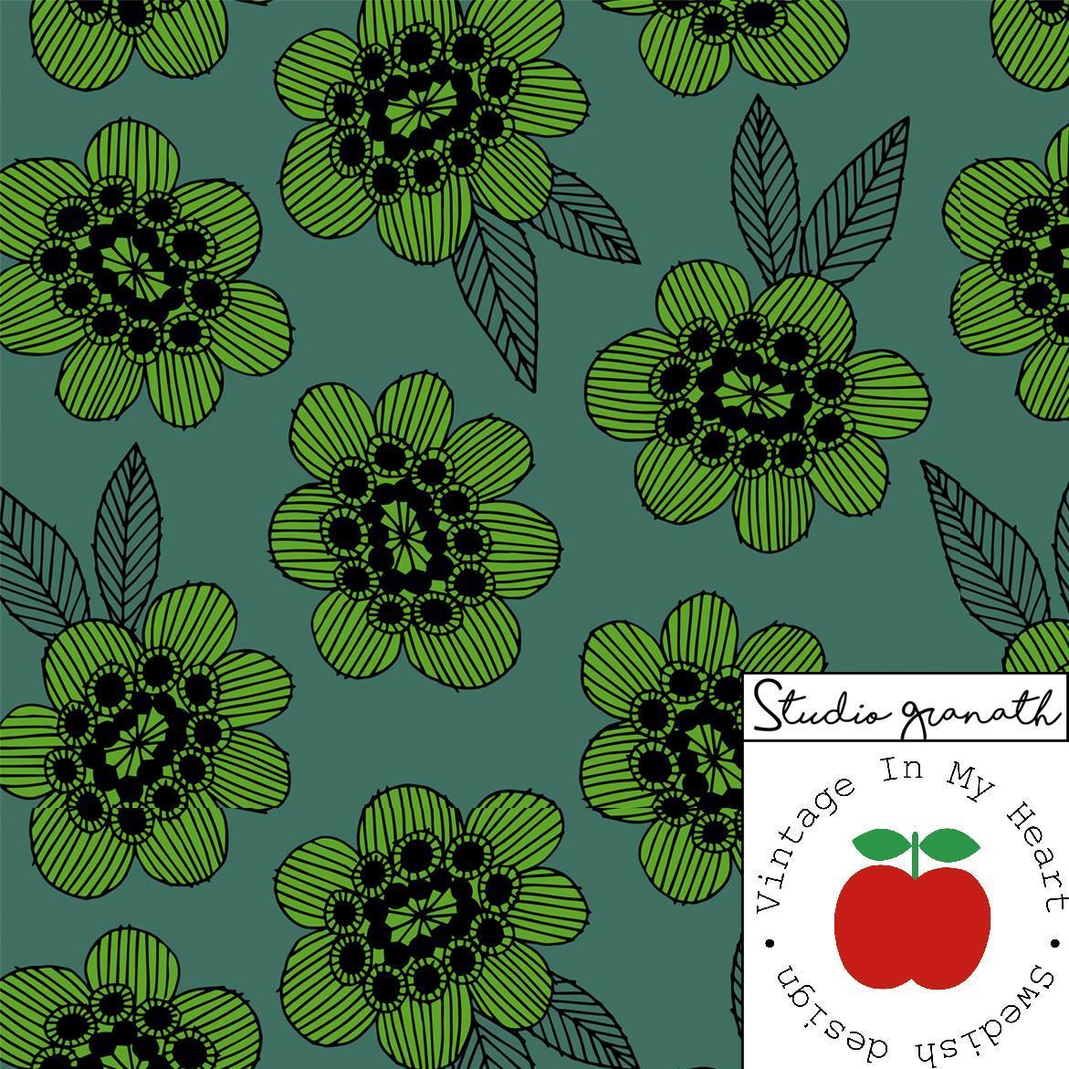 Jersey Gilby Blomma grønn