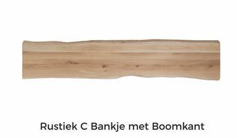 Eiken plank boomkant 220x45x4cm