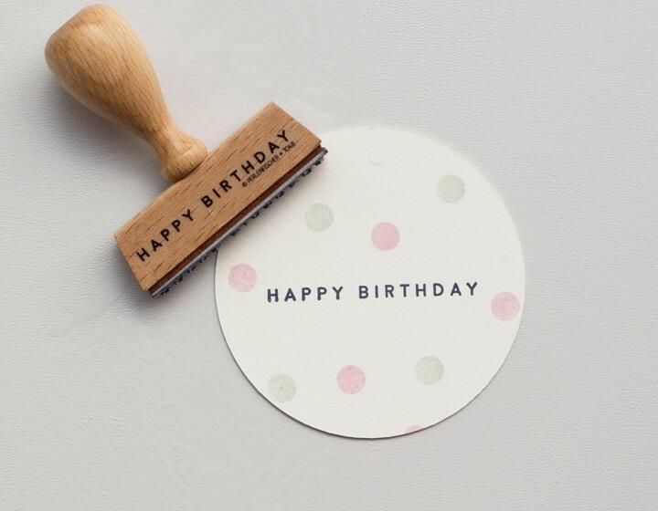 Stempel Large Happy Birthday 2