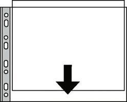 Plastlomme A3 - åpn langside - hull kortside -85my
